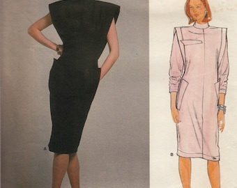 Vintage Claude Montana Sewing Pattern, Misses Dress Sewing Pattern, Claude Montana Dress, Vogue 1376 Uncut Sewing Pattern, 1980s Retro Dress