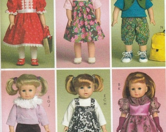 """18"""" Doll Clothes Sewing Pattern, 18 Inch Doll Costumes Sewing Patterns, Doll Clothes Pattern, Uncut Sewing Pattern, McCalls Crafts M5554"""