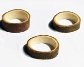 Takke ring // Wilgen hout, houten ring, 16,5 mm, klein/smal, vrouw kind, natuurlijk eco