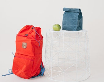 Lunch Bag in Wedgwood Blue // Waxed Canvas Lunch Bag // Lunch Bags // Canvas Lunch Bag