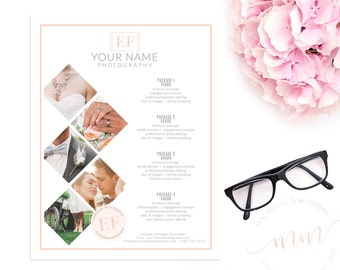 SALE! Wedding Photography Branding Pricing Guides Kit, Photographer Price List, Pricing Guide Template, Wedding Photographer Branding