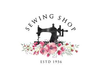 Premade logo design   Tailoring logo   Tailor Logo   Sewing machine logo   logodesign   Blog logo   Sewing shop logo