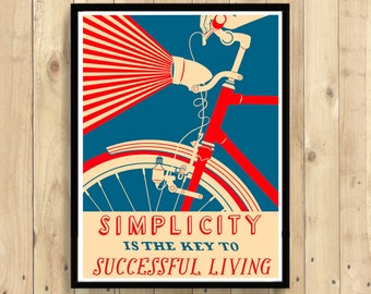 Cycling Print - Bicycle Poster Cycling Wall Art Bike Poster Cycling Decor Cycling Poster Bicycle Wall Art BUY 3 GET 1 FREE