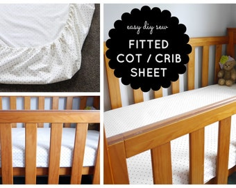 PDF Tutorial - Fitted Baby Cot / Crib Sheet