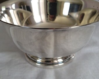 "Silver Bowl Gorham Silver Paul Revere Bowl 4"" YC795 Gorham Vintage Silver Bowl Plated Footed Serving Bowl Silverware Small Silver Bowl"