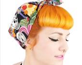 Rock Rockabilly 50s Fifties Pin Up Los Novios Day of the Dead Skulls Headscarf