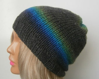 Knit hat womens knit hat slouchy hat knit grey knit hat knit hat, knit slouchy hat