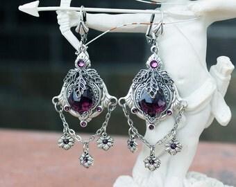 Victorian vintage fantasy swarovski earrings