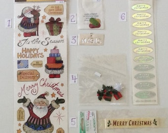 Christmas Card Making and Scrapbooking Embellishments
