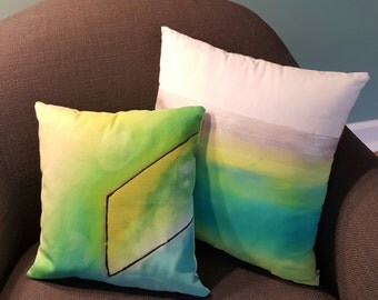 Watercolor Painted Pillow Set