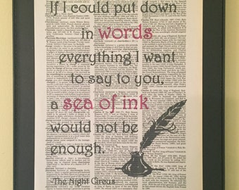 If I could put down in words everything I want to say to you a sea of ink would not be enough - The Night Circus Page Art