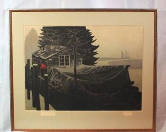 """JUST REDUCED Elton Bennett """"Tidewater"""" original hand-pulled silkscreen ART10018"""