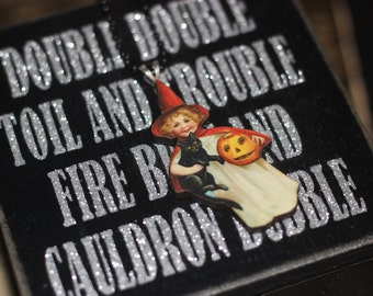Folk Halloween Witch Necklace