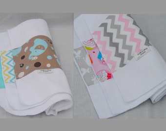Baby Burp Cloths - Gift Set of 3 for Boy or Girl