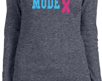 Ladies Breast Cancer Awareness Shirt Battle Mode Long Sleeve Tee T-Shirt 18776-5001