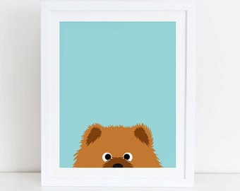 Chow Chow Art Print, Instant Download, Chow Chow Printable, Chow Chow Lovers, Chow Chow Print, Chow Chow Decor, Dog Wall Art, Chow Chow