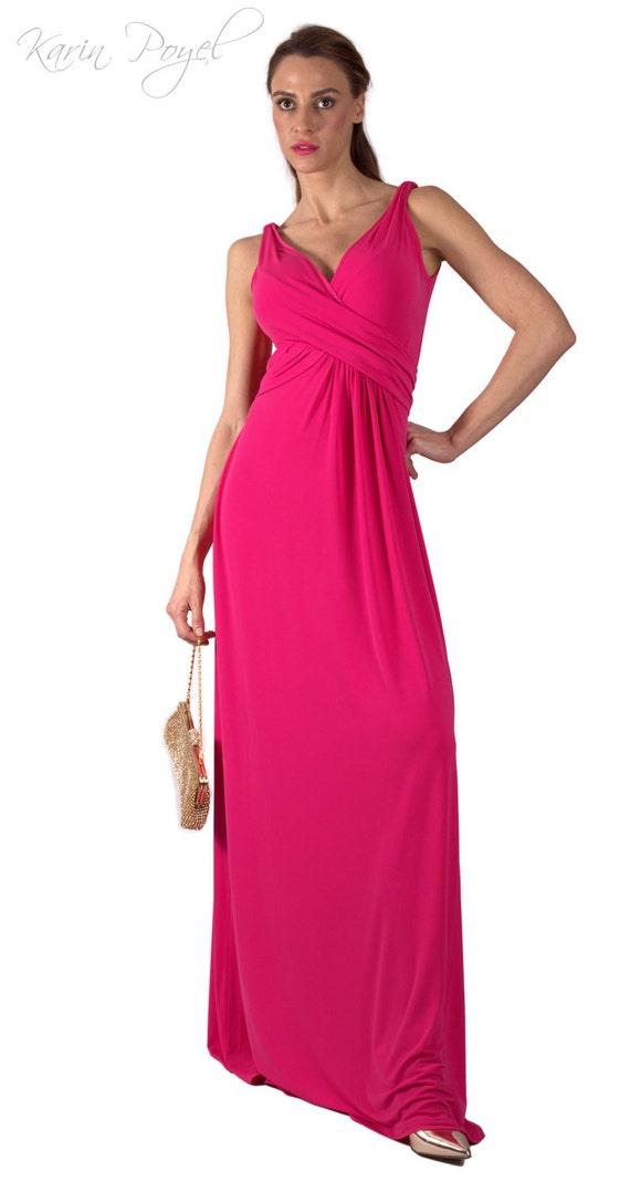 Cyclamen Bridesmaid Evening Dress / Sheath Stretch Dress / Cyclamen Dress / Wedding Sleeveless Dress / KARIN # 12-035-01-500-00