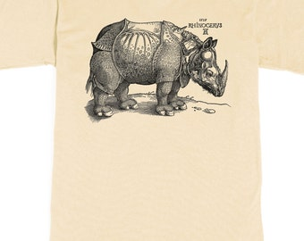 Men's T-shirt - Rhinoceros Shirt - Albrecht Durer Tshirt - Rhino graphic tee