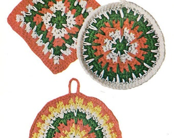 Crochet Potholders Fab Vintage Crochet Giant Pot Holders Pan Holders Mats Pattern Instant Download