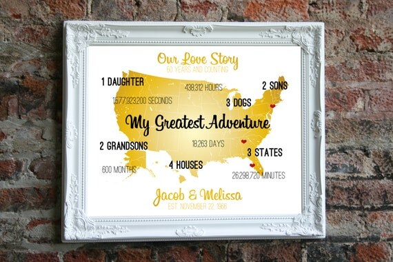 Golden Wedding Gift Ideas For Parents: Golden Anniversary Gift Ideas Golden Wedding Anniversary