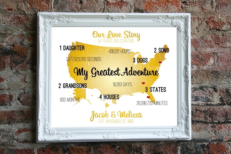 Golden Wedding Anniversary Gifts Ideas: Golden Anniversary Gift Ideas Golden Wedding Anniversary