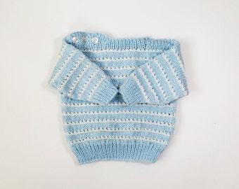 FREE SHIPPING Children's vintage knitted sweater jumper cardigan jersey handmade handicraft nordic scandinavian toddler child children