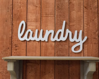 Large Laundry Sign, Laundry Room Decor