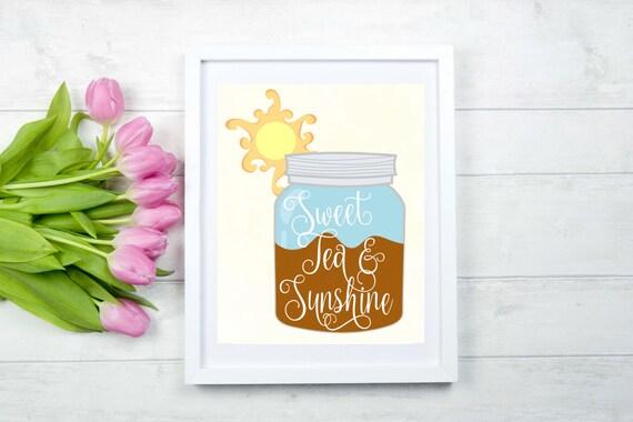 Items similar to Printable Southern Home Decor Sweet Tea