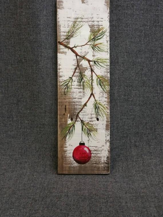 Christmas decor Pallet Christmas art by TheWhiteBirchStudio