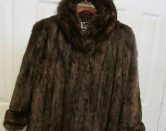 REDUCED, Vintage dark brown mink jacket in excellent condition.