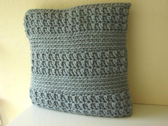 Crochet A Pillow Cover Pattern: Crochet pattern chunky cushion cover pattern bulky yarn,