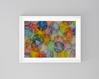 Geometric Watercolor Bubbles