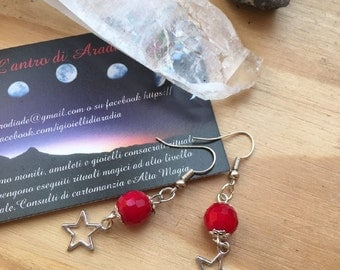 Earrings with stone hard and stellina