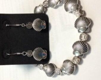 Seashell Bracelet and Earring Set