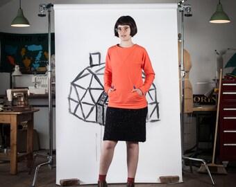 Blueprints for sewing cabin shirt shift dress digital pdf geodesic sweatshirt pdf digital sewing pattern malvernweather Images