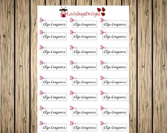 Clip Coupon Stickers for your Erin Condren Planner