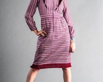 1960s Leslie Fay Knit Dress