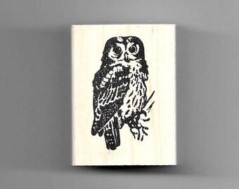 Pueo (Hawaiian Owl) rubber stamp