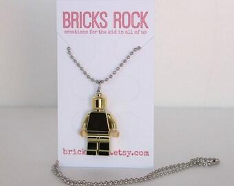 Gold Minifigure - LEGO® Minifig Necklace - LEGO® Jewelry