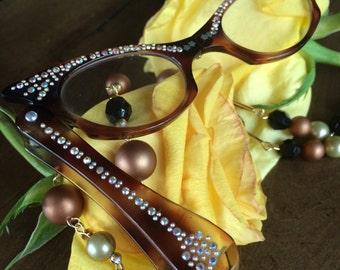 Vintage French Lorgnette Glasses