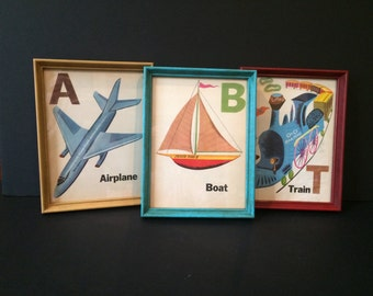 Nursery Decor,Children's Room,Children's Wall Art,Kids Wall Art,Vintage Nursery Room Prints