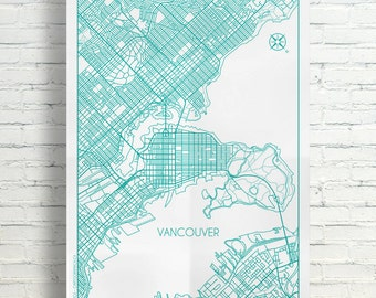 Vancouver, British Columbia City Map Poster