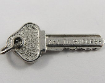 key to success necklace graduation gift sterling silver key