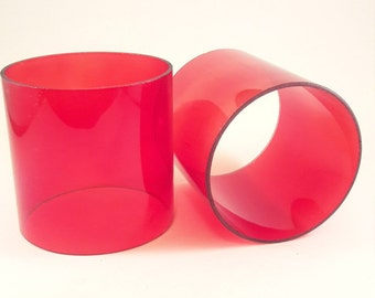 Red Glass Round New Crafts Candles