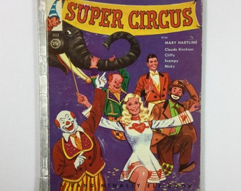 Super Circus Vintage 1955 Children's Rand McNally Elf Book