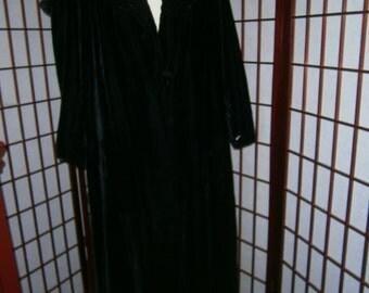 Women's Black Velvet Opera Coat