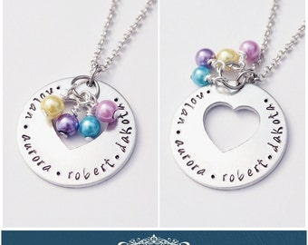 Custom Mothers Day Heart Cut Out Necklace!
