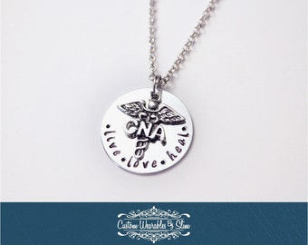 CNA, LPN, or RN (You Choose!) Live Love Heal Necklace!