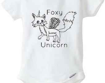 Foxy Unicorn Baby Bodysuit
