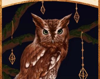 owl tarot print